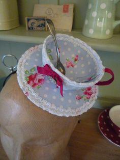 Tea cup fascinators httpsetsylisting189970663pdf wonderland tea cup fascinator polka dot rose handmade cotton like cath kidston pocketwatch charm and teaspoon fandeluxe Epub