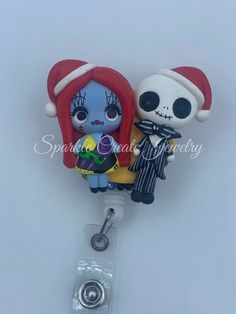 LIMITED EDITON: The Nightmare Before Christmas Clay Badge Reel #Disney