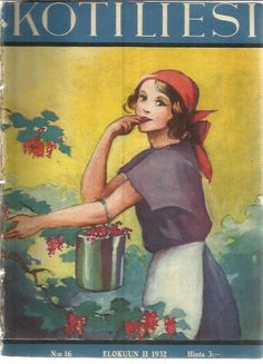 Martta Wendel for Kotiliesimagazine Vintage Christmas Cards, Vintage Cards, Vintage Postcards, Newspaper Cover, School Posters, Old Paintings, Children's Book Illustration, Vintage Children, Finland