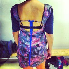 Back of Floral dress