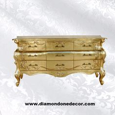 A beautifully hand-carved mahogany, Romana chest with French Provincial Reproduction flared feet and delicate etchings on each drawer. Rococo Furniture, Dream Furniture, Classic Furniture, Home Decor Furniture, Painted Furniture, Commode Louis Xv, Louis Xvi, Baroque Bedroom, Romantic Cottage