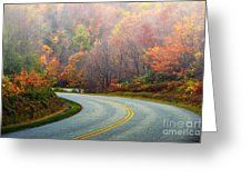 Misty Morning Greeting Card by Scott Hervieux