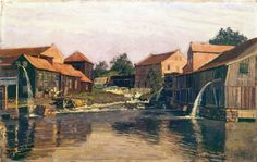 Edvard Munch - Akerselva by Nedre Foss, 1882