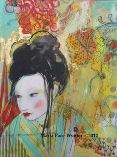 Rethinking Original mixed media painting by by MariaPaceWynters, $350.00