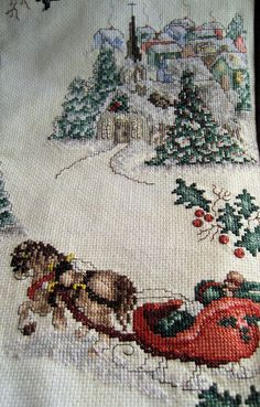 Вышивка крестом рождественские Сокровища
