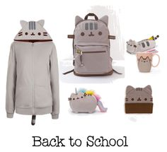 """""""#PVxPusheen"""" by meg-stradtman ❤ liked on Polyvore featuring Pusheen, contestentry and PVxPusheen"""