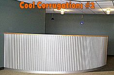 Cool Corrugations Metal Roofing Decorator Ideas: Fabulous office/hotel reception desk #MRNSW