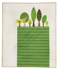 Trees quilt by Jenifer Dick from The Modern Applique Workbook, featured at Quiltmaker, Feb 2014