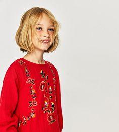 ZARA - KIDS - FLORAL EMBROIDERED DRESS