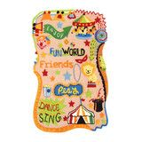 Take a tour around the circus and have a fun with this colorful and bright rug.