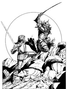 Lords of Law and Chaos do battle. (Larry Elmore from the D&D Players Companion by Frank Mentzer, TSR, 1984.)