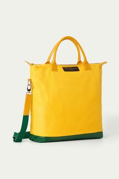 Special Edition O'Hare tote - Yellow  Certified Organic Cotton and Italian calf