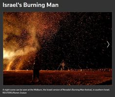 Screenshot: Israel's Burning Man | Pictures | Reuters Burning Man Pictures, Eid, Israel, Lamb, Scene, Woman, Night, Movie Posters, Film Poster