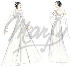 Model S703 | Wedding Dress Sewing Pattern