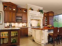 two color kitchen cabinets - Google Search