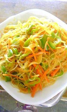 「春雨のカレー炒め」麺好きな息子が野菜も食べれるレシピです。カレー味は子供も大好きな味。麺つゆと合わせれば和風でほんのりカレー味。しかも簡単すぎです。【楽天レシピ】