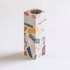 Colorful terazzo pattern. Terrazzo, Urban Home Decor, Keramik Vase, The Design Files, Interior Design Living Room, Decoration, Furniture Design, Decorative Boxes, Pattern Design