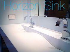 Concrete Horizon Sink by Concrete Works Artisan Concrete Bermuda Concrete, Sink, Bathtub, Artisan, Bathroom, Home Decor, Sink Tops, Standing Bath, Washroom