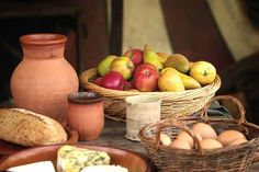 food laid out used in medieval cooking for medieval recipes