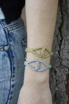 Ancient Greek style macrame bracelet