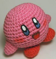 Kirby.  I made kirby AND  prince fluff (blue body, orange feet and felt crown)