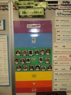 Behavior Chart using kids' pictures instead of clothespins