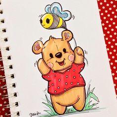 Cute Disney Drawings, Cool Art Drawings, Doodle Drawings, Art Drawings Sketches, Cartoon Drawings, Cartoon Art, Easy Pencil Drawings, Drawing Ideas, Copic Marker Drawings