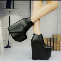 Cheap shoes snow boots, Buy Quality shoes womens boots directly from China shoes ni Suppliers:   Descriptions :          8-Free Shipping NEW TOP Sale Extreme High 19cm Winter Shoes Woman Ankle Boots Wedges