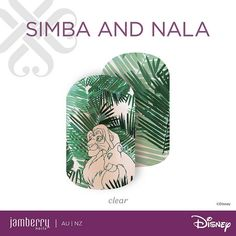 Simba And Nala. The Disney Collection by Jamberry, Volume 3. Launching Wed 28th Sept 2016. http://nitag.jamberrynails.com.au
