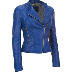 Black Rivet Faux-Leather Asymmetric Moto Jacket in {productContextTitle} from {brandTitle} on shop.CatalogSpree.com, your personal digital mall.