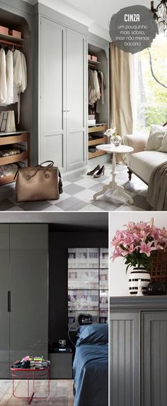 66 Trendy Ideas walk in closet bathroom combo built ins Apartment Living, Room Makeover, Interior, Home, Built Ins, Gray Interior Decor, Master Bedroom Closets Organization, Gray Interior, House Interior