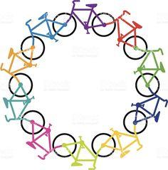 Ciclo de bicicleta vetor e ilustração royalty-free royalty-free