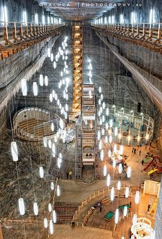 Turda salt mine, Romania - from the XVII century; it is the most spectacular destination in the world. The salt deposits date millions of years ago! Salt extractions date since pre-roman times. Bulgaria, Wonderful Places, Beautiful Places, Transylvania Romania, Visit Romania, Romania Travel, European Tour, Places To See, Traveling By Yourself