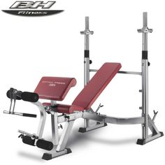 BH Fitness Optima Press Olympic Weight Bench ~~~ # Designed for regular use at home # 6 vertical bar settings, 4 backrest settings, 4 arm support settings, 3 seat settings, 3 leg adjustment settings # Multi position incline back rest # Maximum stability – The weight is distributed across 6 legs # Contoured upholstery and thick foam rollers #WeightsBench #Strength #MFN