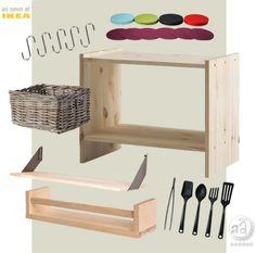 DIY/build-your-own play kitchen with these parts from IKEA
