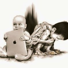Mac Book, Ironic Situations, Art Sketches, Art Drawings, Pictures With Deep Meaning, Art With Meaning, Satirical Illustrations, Powerful Pictures, Beautiful Pictures