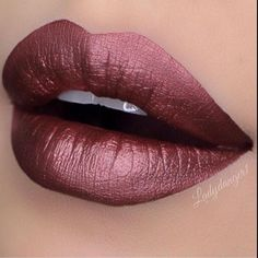 """""""L O T D @ladydanger1 wearing •TEDDY• metallic liquid matte lipstick ✨ One of three colors from our LE ~Dare to Dazzle Trio~ ✨ Shop now on…"""""""