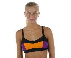 6dc9b88c Abecita - Block Kanters Soft Bra | | Svart/Orange/Lila | Sportamore.