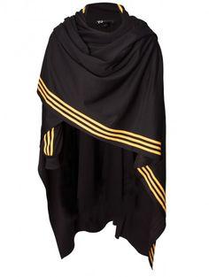 Yohji Yamamoto Unisex Track Poncho Black/Yellow on shopstyle.com.au