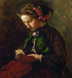 The Athenaeum - Effie with Foxgloves in Her Hair (Sir John Everett Millais - )