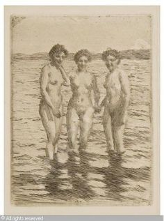 Anders Zorn    drypoint and etching