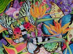 Lucy Arnold- so many colors and nature all thrown together so delicately