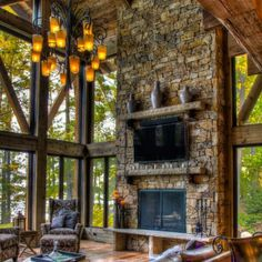 Like butter... cred by @_pintrest_ #mountainhome #bringingtheoutdoorsin #richwood #soaringceilings #screenedinporch #luxuriousliving #luxurioushomes #mountainvibes #mountainview #stonefireplace #realtor® #enjoytheview #beonewithnature #radiogirl #boxermommy #mothernaturerocks #greatplacetobe #interiordetails #interiorinspiration #boxermommy #outdoorliving #zachandmaddiesmom