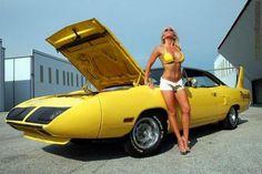 SuperBird Girl! Click to Find out more - http://fastmusclecar.com/car-girls/superbird-girl/ COMMENT.