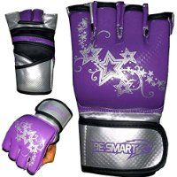 BeSmart MMA UFC Grappling Gloves Ladies Boxing Punch Bag Kick Muay Thai Womens Purple, Pink FREE DELIVERY (Purple, Small)