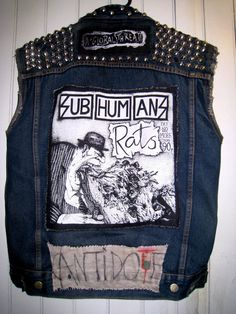 Custom Punk Vest for Men by LoveRageDenver on Etsy, $65.00
