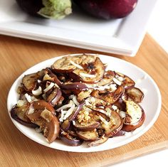 Roasted Eggplants In Garlic Sauce ~ Sankeerthanam (Reciperoll.com)|Recipes | Cake Decorations | Cup Cakes |Food Photos