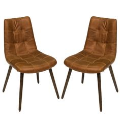 Stitched Leather Side Chairs - Rustic Retreat