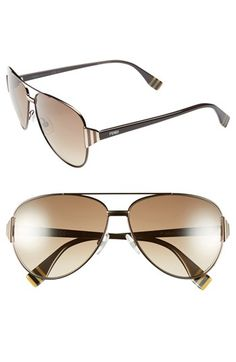 Fendi 60mm Aviator Sunglasses