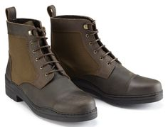Caldene Bredon Canvas and Waxed Leather Short Boot